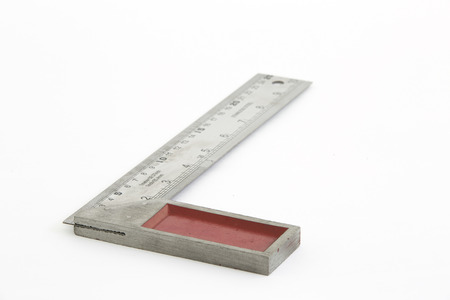 angle bar: Iron ruler with angle bar, set square