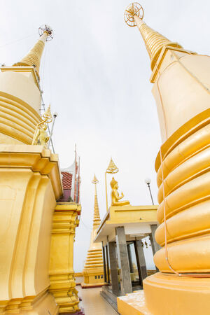 The beautiful big golden temple in Nakhonsawan province middle of Thailand, Wat Khiri Wong,Thailand photo