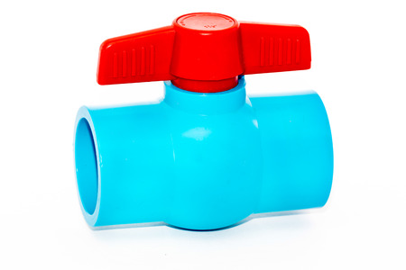 hydrant ball valve on white background photo