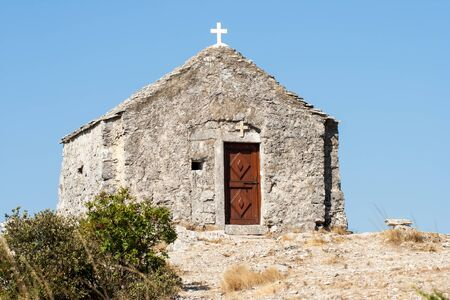 small chapel on top of the mountain
