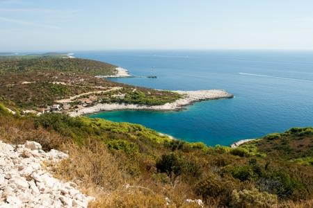 A scenic bay of Vis island in Croatia Stock Photo