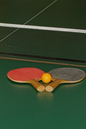 table tennis playing set  Stock Photo