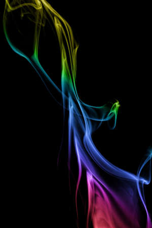 color smoke in black background photo
