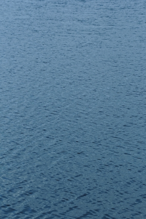 blue water surface on the wind