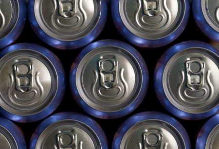 Much of drinking cans close up Stock Photo - 20105725