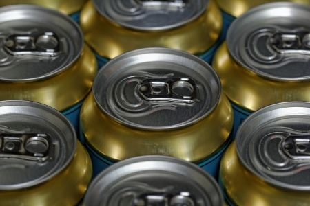 Much of drinking cans close up Stock Photo - 20105686