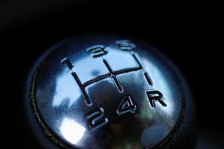 gearstick: five speed manual gearstick of a car