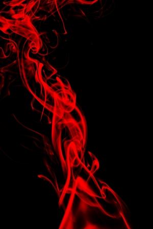 red smoke in black background