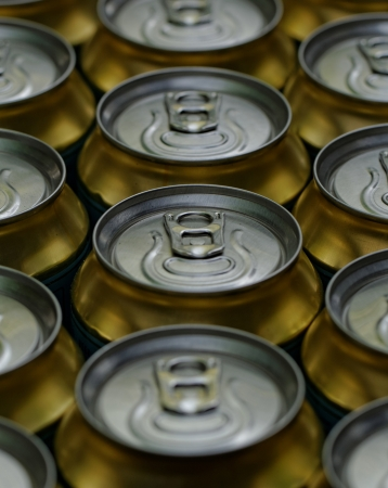 Much of drinking cans close up Stock Photo - 20208086