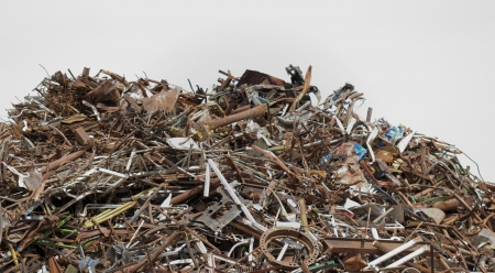scrap metal processing industry, stacked metal Stock Photo - 20208114