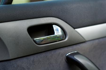 car door handle on a grey door Stock Photo - 20208481