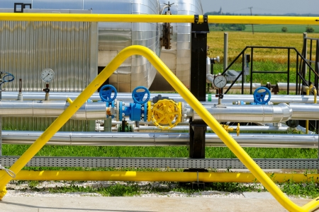 industrial pipes at an oil well Stock Photo - 20208789