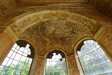 beautyful interior in a ruined castle with windows Stock Photo - 20208996