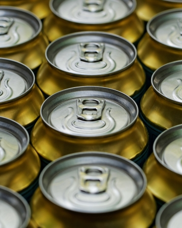 Much of drinking cans close up Stock Photo - 20422227