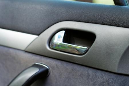 car door handle on a grey door Stock Photo - 20421952