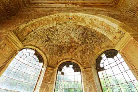 beautyful interior in a ruined castle with windows Stock Photo - 20421859