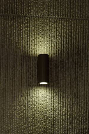 designer lamp on the wall with soft light photo