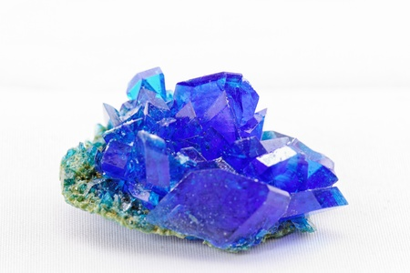 sulfate: rystals of blue vitriol - Copper sulfate