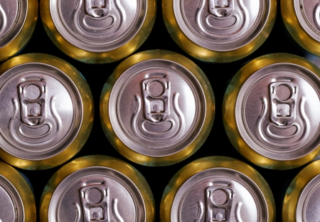Much of drinking cans close up Stock Photo - 20562792