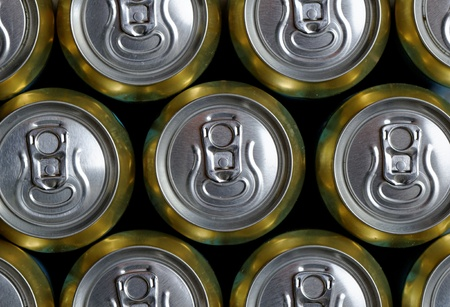Much of drinking cans close up Stock Photo - 20840798