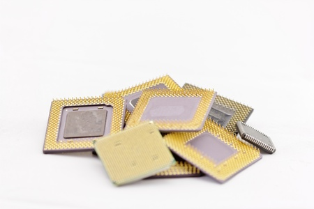 processors: close up of many different cpu processors