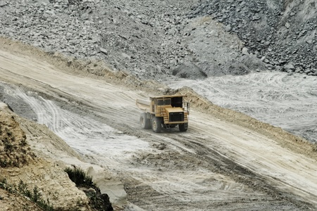 huge truck on a coal mine open pit Stock Photo - 20841049