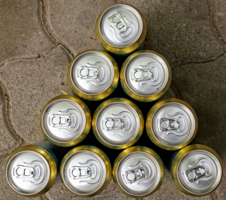 Much of drinking cans close up Stock Photo - 20914583