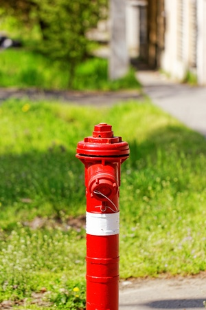 red fire hydrant on the sidewalk Stock Photo - 20914508