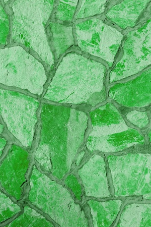Background of a large stone wall texture (green) Stock Photo - 20936761