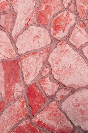 Background of a large stone wall texture (red) Stock Photo - 20936859