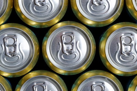 Much of drinking cans close up Stock Photo - 21318216