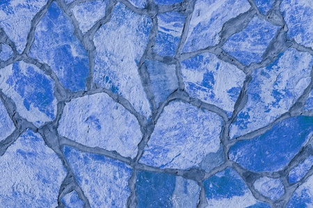 Background of a large stone wall texture (blue) Stock Photo - 21318005