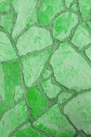 Background of a large stone wall texture (green) Stock Photo - 21317966