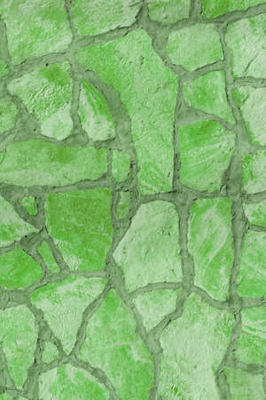 Background of a large stone wall texture (green) Stock Photo - 21387690