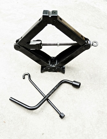 fulcrum: car hand lifter set for tire changing