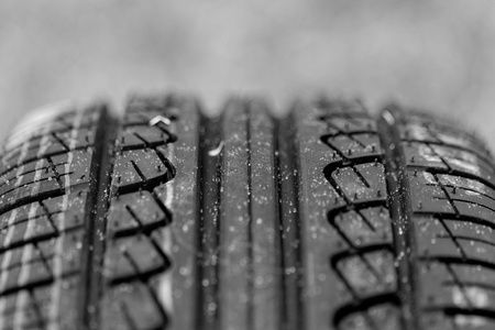 new black tire pattern with singns (car wheel) Stock Photo - 21810820