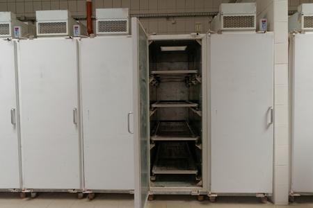 morgue: Refrigerator in morgue Editorial