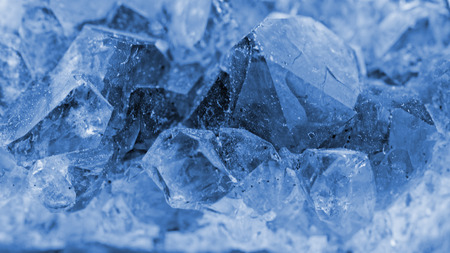 crystallization: macro photo about crystals of blue vitriol - Copper sulfate