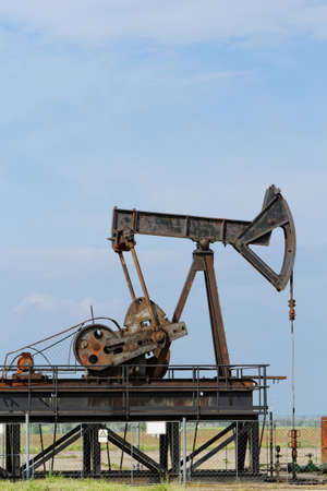 Operating oil and gas well detail photo