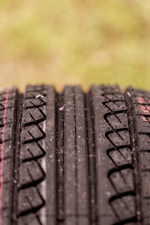 new black tire pattern with singns (car wheel) Stock Photo - 22881787
