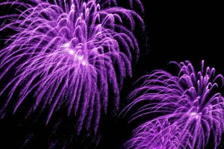 beauty colorful Fireworks Against a Black Sky photo