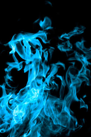 blue flames of fire as  abstract backgorund photo