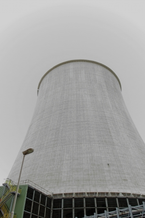 Details of a huge cooling towers of a power plant photo