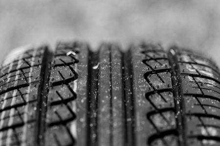 new black tire pattern with singns (car wheel) Stock Photo - 23431488