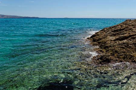turquise: rocky beach with turquise sea on greece thassos island