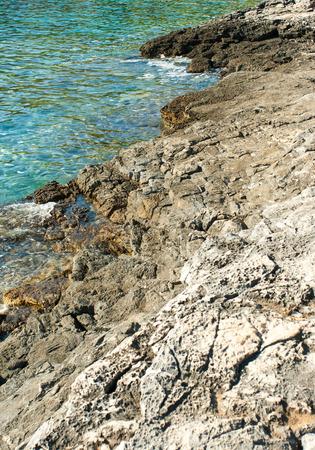 beautiful rocky beach in croatia