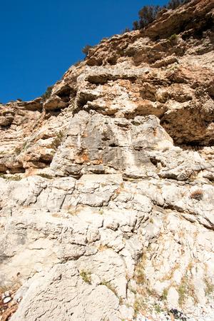 rocky scrubby landscape from vis island (croatia)