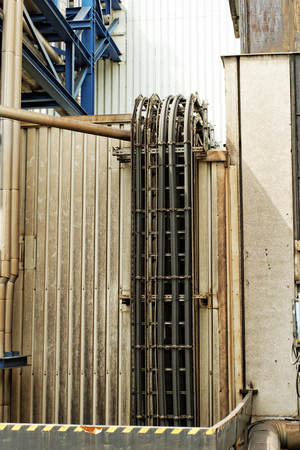 industrial pipes in a electricity power plant