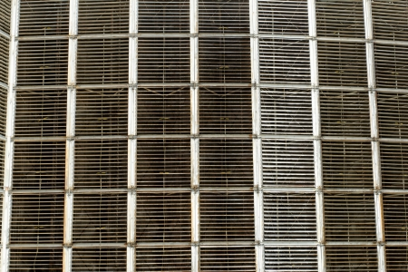Details of a huge cooling towers of a power plant (cooling fins)