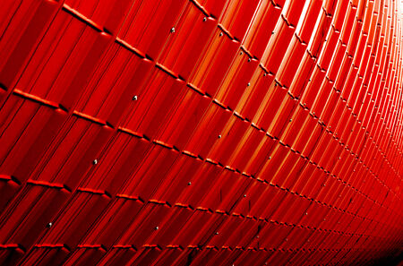 red industrial plate texture (close up of patternt) backgorund photo